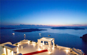A Wedding Ceremony On Your Own Private Terrace In Santorini With Dramatic Views Of The Caldera And Skaros Rock Followed By Vineyard Reception